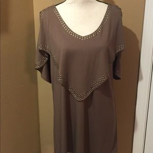 Designer Top W by Worth Cut Out Shoulders Medium